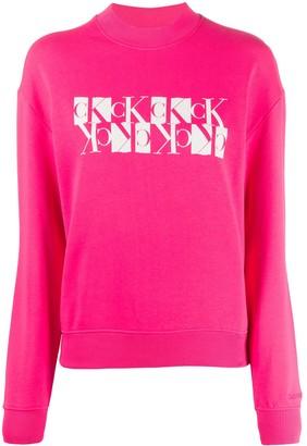 Calvin Klein Jeans Monogram Logo Print Sweatshirt