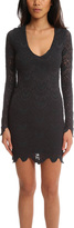 Nightcap Clothing LS Deep V Spanish Lace Dress