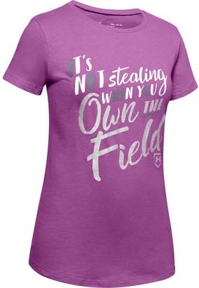 Under Armour Girls' UA Own the Field T-Shirt