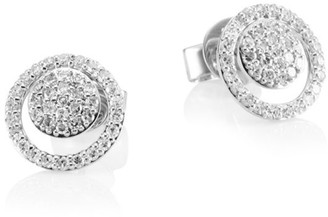 Phillips House 14K White Gold & Diamond Micro Diamond Loop Earring