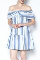 Lush Off Shoulder Stripe Dress