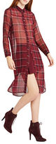 BCBGeneration Plaid Long Sleeve Shirt Dress