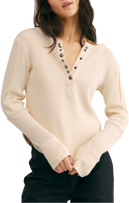 Free People Everest Long Sleeve Henley Top