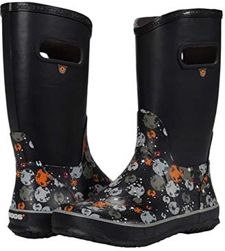 Bogs Rain Boots Moons (Toddler/Little Kid/Big Kid) (Black Multi) Boy's Shoes