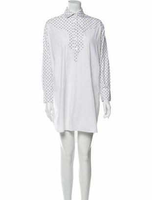 Rosetta Getty Knee-Length Dress White