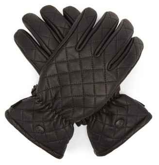 Goldbergh Nishi Quilted Leather Ski Gloves - Black