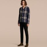 Burberry Check Cotton Pyjama-style Shirt, Blue