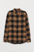 H&M Cotton Flannel Shirt - Beige