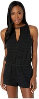Speedo Keyhole Romper Cover-Up Black) Women's Swimsuits One Piece