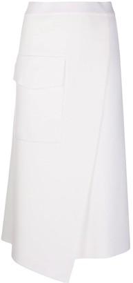 Mrz ponte-knit wrap-effect A-line skirt