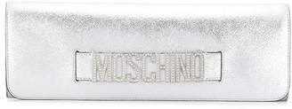Moschino crystal embellishment clutch bag