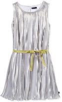Tommy Hilfiger Metallic Pleated Dress, Big Girls (7-16)