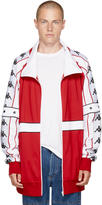 Faith Connexion Red and White Kappa Edition Zip-up Jacket
