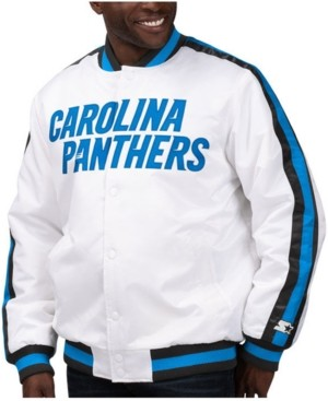 Starter Men's Carolina Panthers The D-Line Starter Satin Jacket