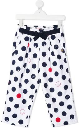 Lili Gaufrette Polka Dot-Print Trousers