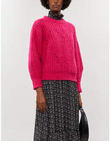 Sandro Heart-motif chunky stretch-knit jumper