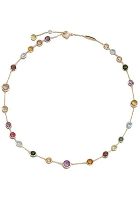 Marco Bicego Jaipur Mini Semi-Precious Multi-Stone 18K Yellow Gold Station Necklace