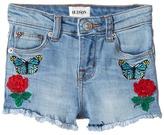 Hudson Flower Field Shorts in Faded Blue (Toddler/Little Kids)