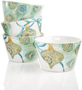 222 Fifth Lakshmi Holiday Peacock Collection Appetizer Bowls