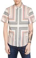 Billy Reid Murphy Stripe Print Sport Shirt