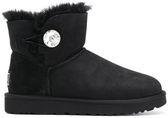UGG Embellished Button Ankle Boots