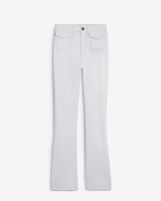 Express High Waisted Patch Pocket Bell Flare Pant