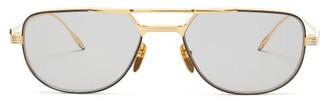 Jacques Marie Mage - Roy Aviator Titanium Sunglasses - Mens - Gold