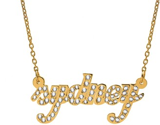 14K Gold-Plated Sterling Personalized Script Name Necklace