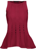 Cushnie et Ochs Cutout stretch-knit peplum top