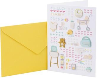 "Hallmark Signature New Baby ""Baby Icons"" Greeting Card"