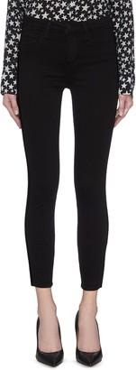 L'Agence 'Margot' velvet outseam cropped skinny jeans
