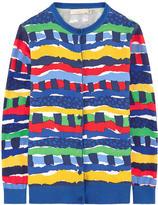 Stella McCartney Striped bi-material cardigan