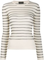 Roberto Collina Striped Ribbed Jumper