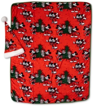 Disney 2-Pc. Travel Blanket & Santa Hat Set Bedding