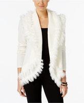 Alfani Faux-Fur-Trim Cardigan, Only at Macy's