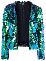 Topshop Circle sequin embellished jacket