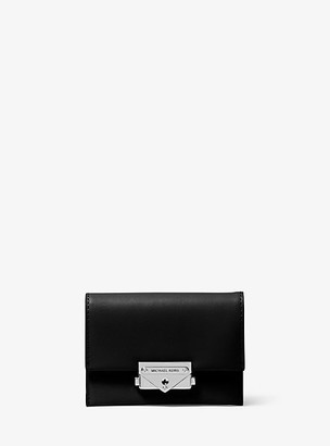 MICHAEL Michael Kors MK Cece Small Leather Card Case - Black - Michael Kors