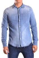 Dondup Men's Blue Cotton Shirt.
