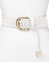 MICHAEL Michael Kors Belt - Braided with Horseshoe Buckle