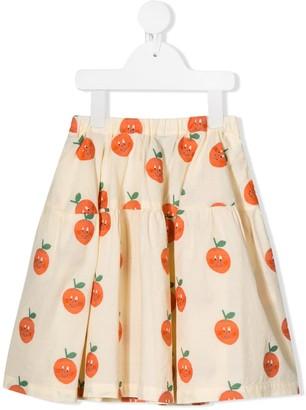 The Animals Observatory all-over Orange print skirt