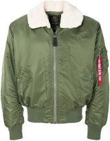 Alpha Industries faux fur collar bomber jacket