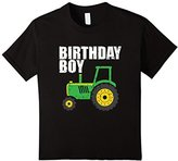 Kids Youth Tractor Birthday Boy Shirt Construction Themed Party