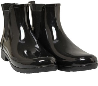 Hunter Womens Original Refined Chelsea Gloss Wellington Boots Black