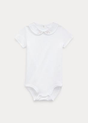 Ralph Lauren Embroidered Cotton Bodysuit
