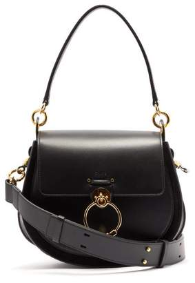 Chloé Tess Large Leather Cross-body Bag - Womens - Black