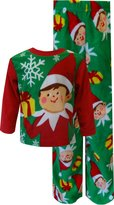 AME Sleepwear Christmas is Coming Elf on the Shelf Fleece Holiday Toddler Pajamas for boys