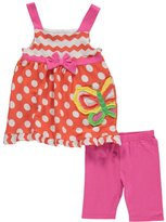 "Nannette Little Girls' ""Dots & Butterfly"" 2-Piece Outfit"