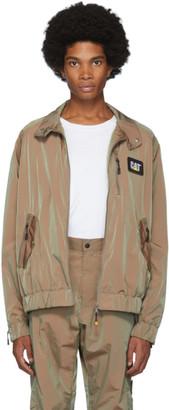 John Elliott Brown CAT Edition Iridescent Nylon Harrington Jacket