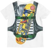 Junior Gaultier Backpack Printed Cotton Jersey T-Shirt