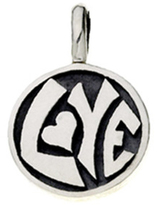 Mod Pod Sterling Silver Groovy Kind of Love Charm by Cynthia Gale